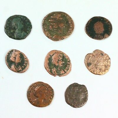 Group Lot of 8 Helena Ancient Roman Bronze Coins c. 330 AD -Exact Lot Shown 3124