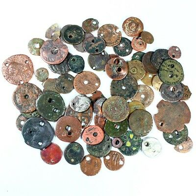 Group Lot of 62 Mostly Ancient Roman Buttons c. 200-250 A.D. - Exact Lot 3119