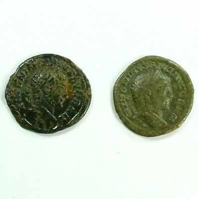 Two (2) Silver Ancient Roman Coins c.100 - 375 A.D. Exact Lot Shown 3117