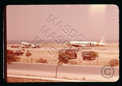 35mm Ektachrome Aircraft Slide - C-54D Skymaster 42-72761 at Crete in Late 1950s