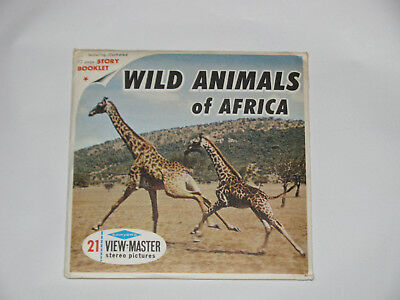 View-Master B618 Wild Animals of Africa 3 Reels Book Sawyers