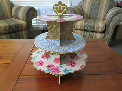 Ornate Cup Cake Stand 3 Tier - Displays Beautifully Ideal for Parties...