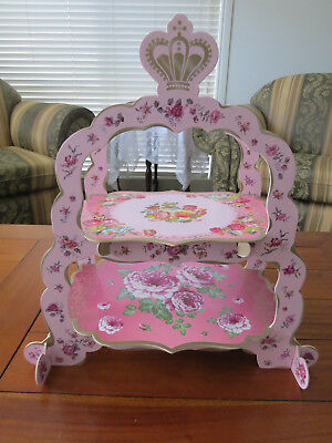 Charming Regal Sandwich Tray 2 Tier Floral by Table Talk - Matching Teapot!