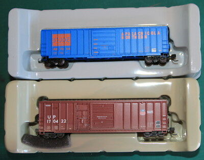 2 Athern 50' Box Cars 1 Apalachicola Northern 1 Union Pacific Factory Weathered