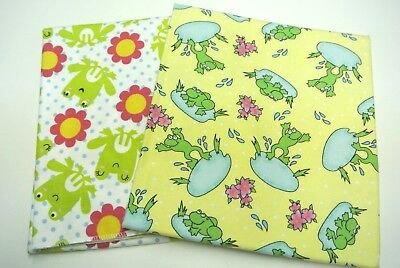 Baby Blankets Frogs Flowers Lily Pads Dots Set of 2 Can Be Personalized 36x40