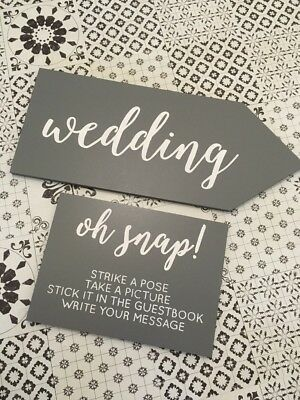Hand Painted Wedding Signs Decoration