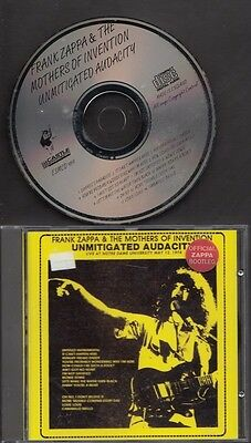 FRANK ZAPPA & THE MOTHERS OF INVENTION Unmitigated Audacity LIVE CD