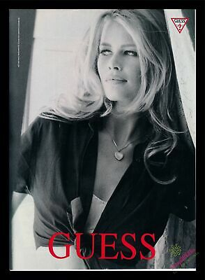 1991 Print Ad~Guess~Claudia Schiffer~Sexy~K400
