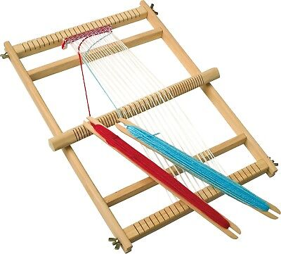Wooden Large Deluxe Weaving Loom Arts Crafts Craftwork Classic Toy Make Your Own