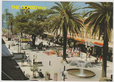 Australia NSW NEW SOUTH WALES The Corso Mall MANLY Sydney Bartel postcard c1980s