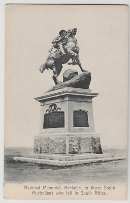 SOUTH AUSTRALIA South Africa Boer War Memorial statue ADELAIDE postcard c1908