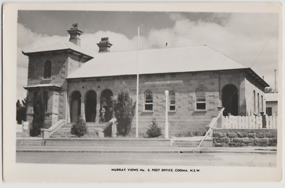Australia NSW NEW SOUTH WALES Post Office COOMA Murray Views postcard c1950s