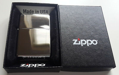 Zippo Lighter Regular High Polished Chrome Windproof In Box *Zippo 250*
