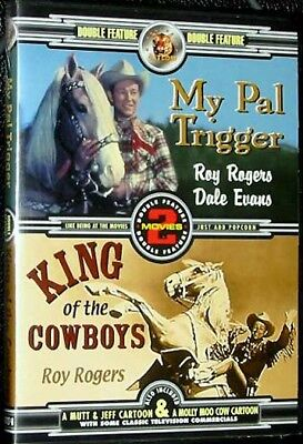 New My Pal Trigger / King Of The Cowboys Dvd - Roy Rogers - Dale Evans + Cartoon