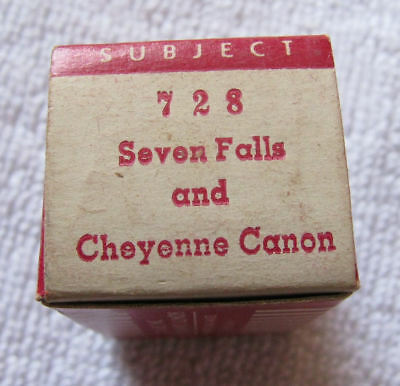 Seven Falls & Cheyenne Canyon Colorado TRU VIEW 3 D Stereoview Slide Film Strip
