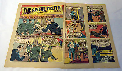 1944 five page cartoon story ~ THE AWFUL TRUTH Poland underground newspaper