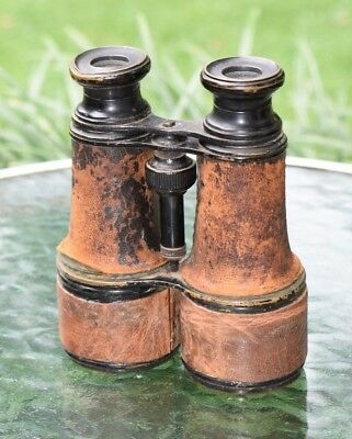 Antique Binoculars Merchant Marine Made in Paris Original Military Item WWI WW1