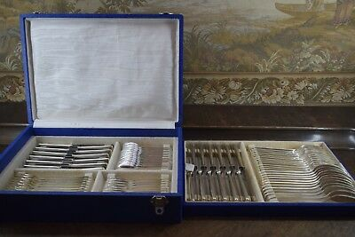 ART DECO SILBER-BESTECK, GRADE, SOLINGEN-GERMANY 1930, 12 Pers. 84 Teile, PLATED