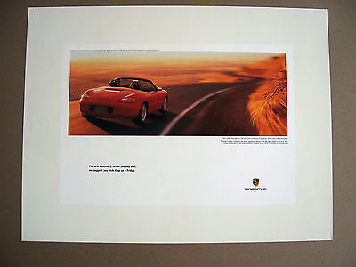 Porsche Official Boxster S ..friday.. Official Showroom Poster 2000
