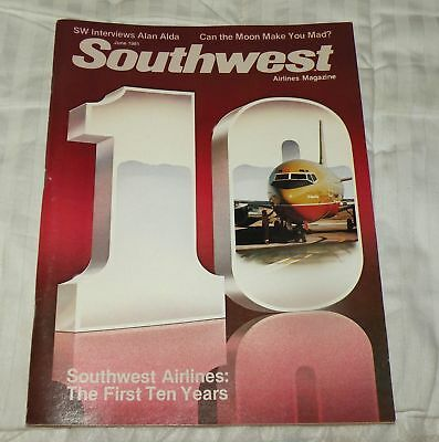 Southwest Airlines Magazine June 1981 The First 10 Years