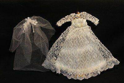 Dawn Doll Gown Only with Silver #815 Wedding Bell Dream