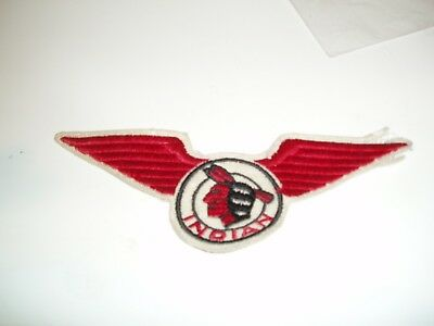 Early Vintage Winged Indian Motorcyle Patch
