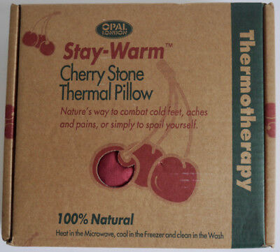 Opal Cherry Stone Thermal Pillow Stay Warm (Neck/feet/aches+Pains) *new *gift