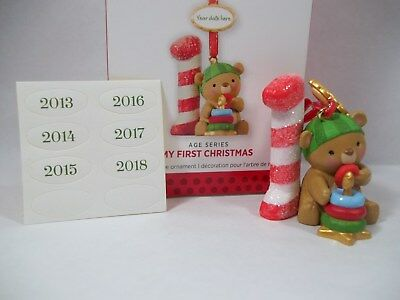 Hallmark My First Baby's Christmas Ornament 2018, 2017, 2016, 2015, 2014,