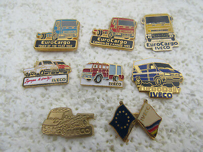 Lot De 8 Pin's Iveco Camion Fourgon