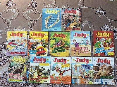 Job Lot Of  12 Vintage Judy Picture Story Library Magazines