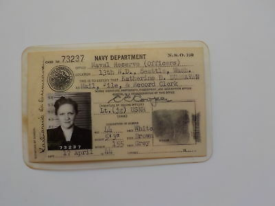 WWII Photo ID Navy Wife Lieutenant Dunnavan Photograph WW II VTG Old WW2
