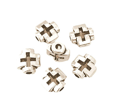 10 TIBETAN SILVER FLAT SQUARE SPACER BEADS 12mm TOP QUALITY TS2