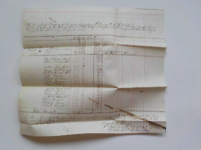 Civil War Document 1865 1st Louisiana Cavalry 98th U.S. Colored Infantry