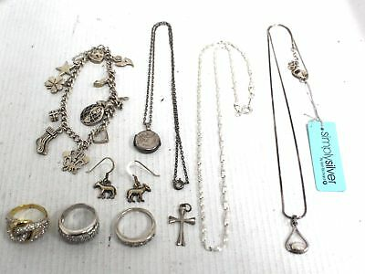 10 Pieces Collection of Various Jewellery Inc. 925 STERLING SILVER, 52.9g - C09