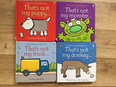 4x Thats Not My Book Bundle Puppy Monster Truck Donkey Sensory Touchy Feely