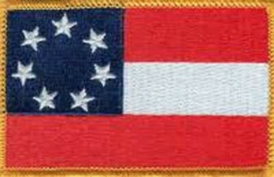 Military Embroidered Patch - 1St National Confederate -- Iron-On - New 3.5""