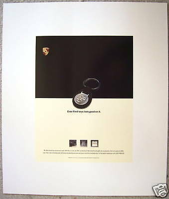 Porsche Ford Official Factory Showroom Poster 1994 Rare
