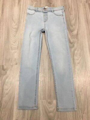 Girls River Island Light Blue Molly Jeans - Age 7 Years