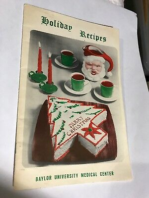 Holiday Recipes Cookbooklet Baylor University Medical Center 1960's Christmas