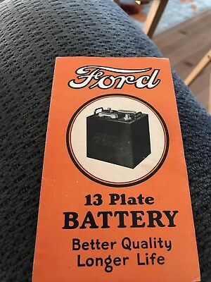 1930;s-40's Ford Car Battery Brochure