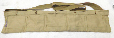 Original British .303 Enfield Khaki Bandolier-1943  New & Unused