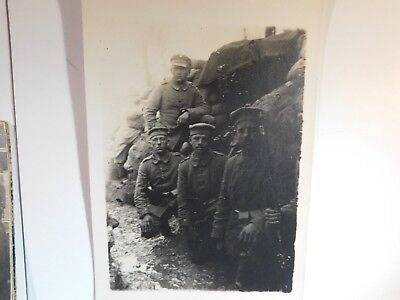 Antique WW1 GERMAN Real Photo RPPC Postcard TRENCH MG POSITION FRANCE MUD