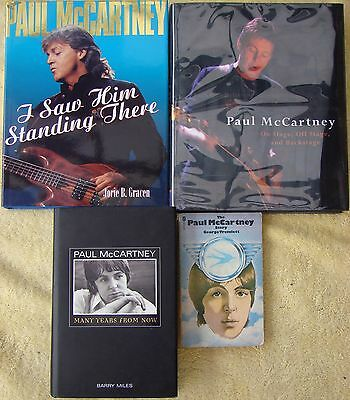 ♫ THE BEATLES 4 Paul McCartney books - some rare  OOP - good condition - lot 7 ♫