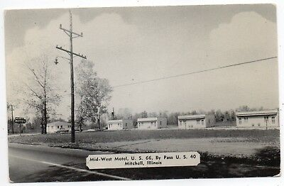Mitchell,illinois,madison County,mid-West Motel,us Route 66,us Highway 66,pm1954