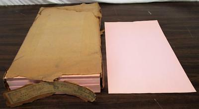 VINTAGE 1940s - 50s NOS A.C. MCCLURG & CO ONE REAM PINK MEMO PAPER SCHOOL OFFICE