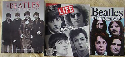 ♫ THE BEATLES  3 great books   OOP - lot 19 ♫