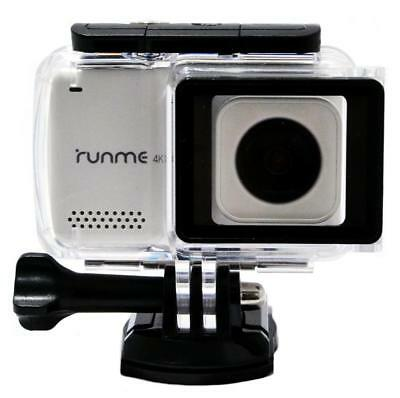 "RUNME R3 2.45"" WHITE 30m 4k ULTRA HD GYRO Wi-Fi TOUCHSCREEN ACTION VIDEO CAMERA"