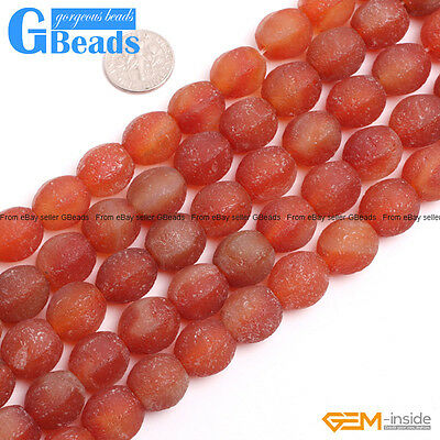 Red Lantern Antique Old Agate Frost Matte Beads For Jewelry Making Free Shipping