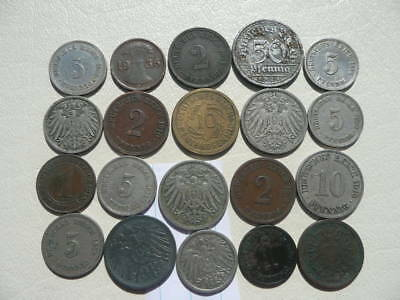Lot of 20 Empire and Weimar Germany Coins - Lot 3