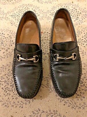 b3dd2e08541 MEN S GUCCI BLACK Leather Silver Horse-bit Loafers - SIZE 9 1 2D ...